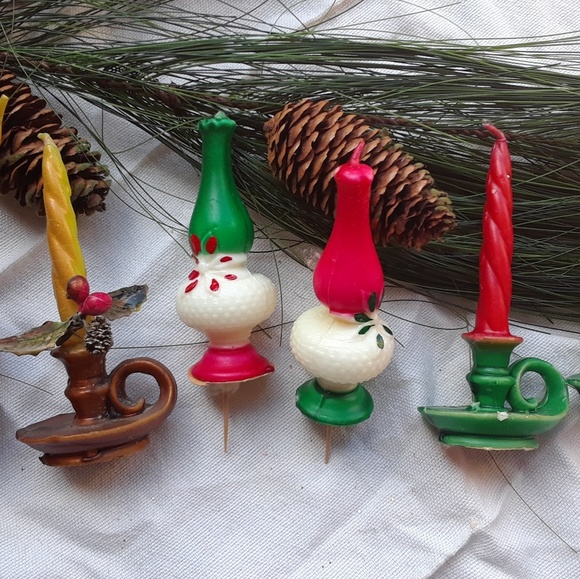 Vintage Christmas Candles.Vintage Christmas Candle Gurley Lamps 4 Pc Set